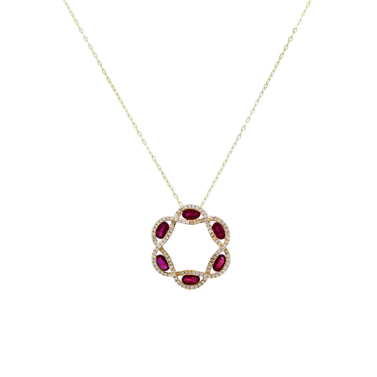 Gold and Ruby Pendant