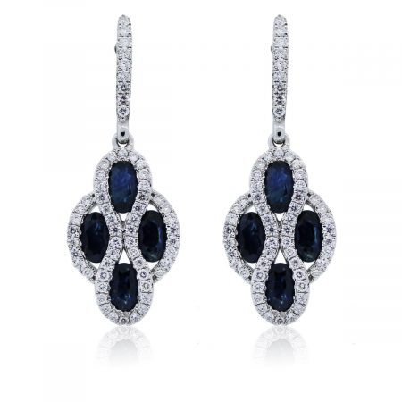 You are viewing these white gold diamond and sapphire earrings!