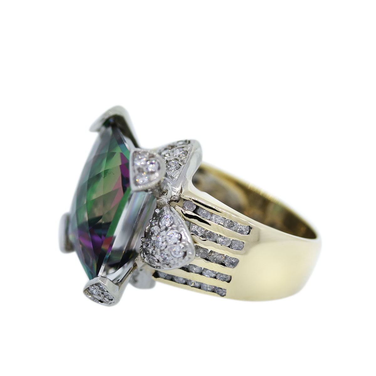 Synthetic Alexandrite Stone Ring