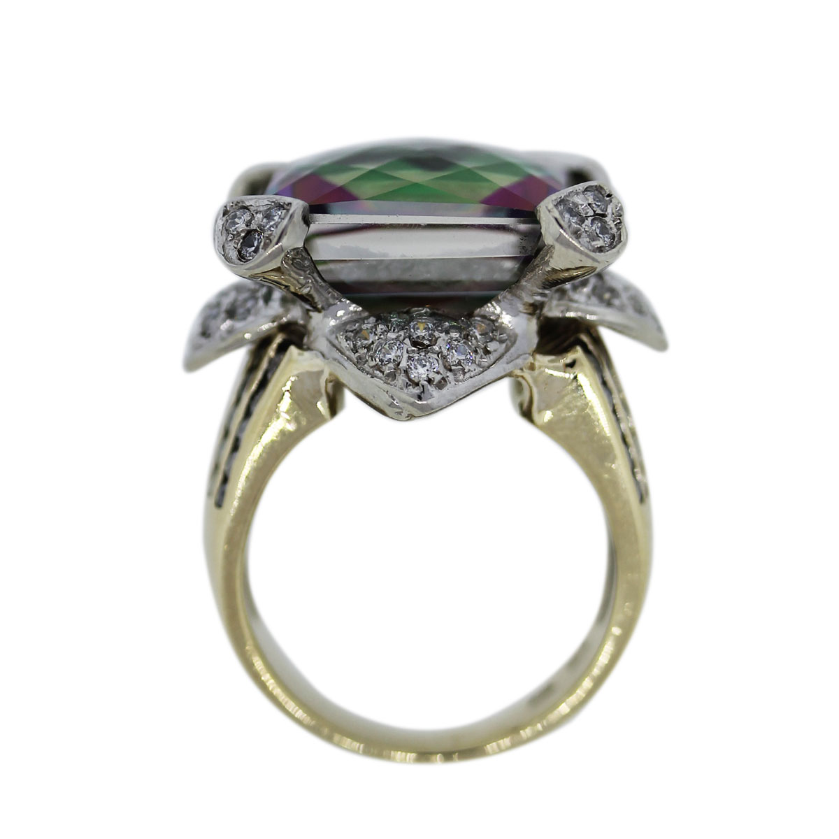 Alexandrite and Diamond Cocktail Ring