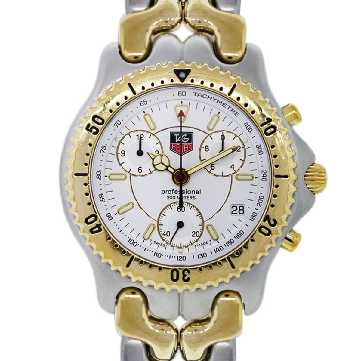 tag heuer professional two tone chronograph watch boca raton. Black Bedroom Furniture Sets. Home Design Ideas