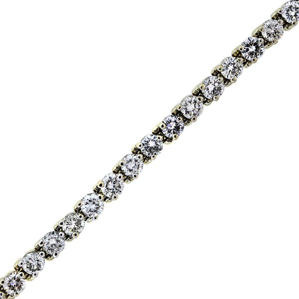 You are Viewing this 14k Yellow Gold Diamond Tennis Bracelet