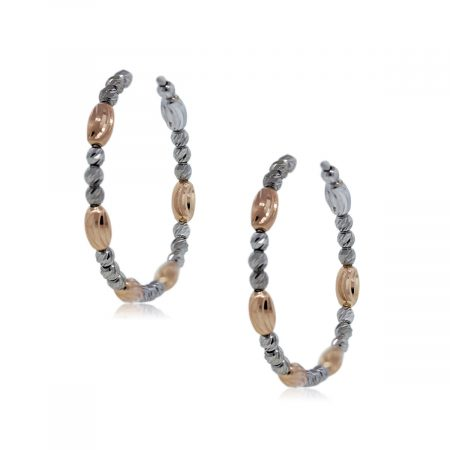 Officina Bernardi Sterling Silver & Plated Rose Gold Earrings!