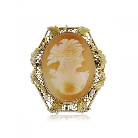 You are Viewing this Vintage Cameo Pin!