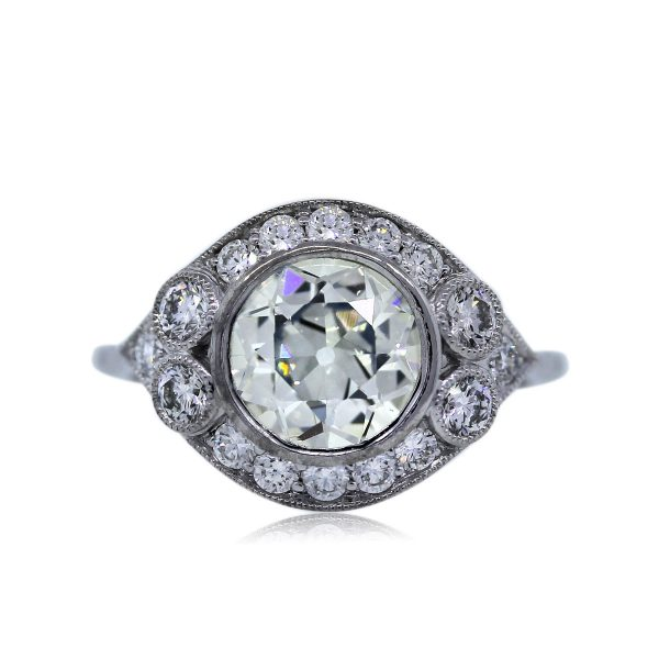 You are Viewing this Stunning 1.52ct Old European Cut Diamond Ring!
