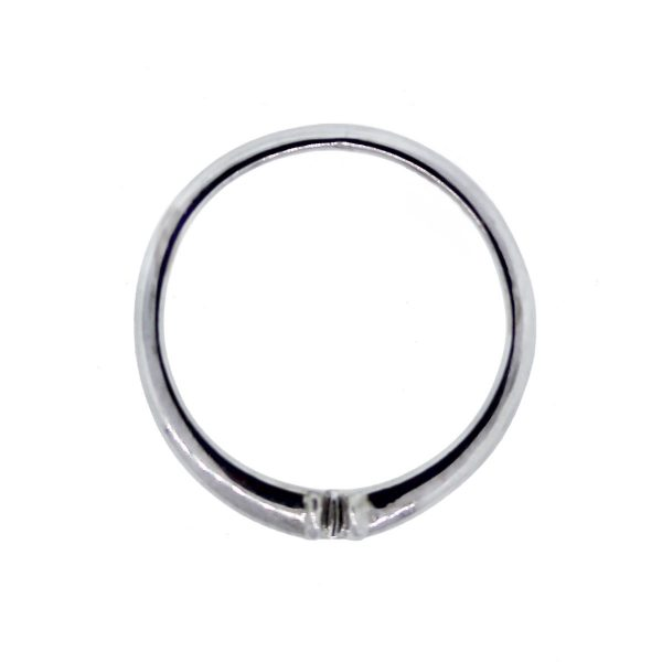 White Gold Notched Wedding Ring