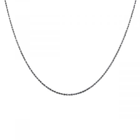 You are viewing this 14K White Gold Rope Chain Necklace!