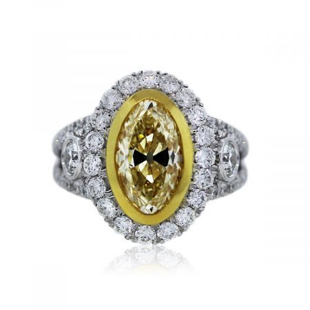 You are Viewing this Fancy Yellow Diamond Engagement Ring!