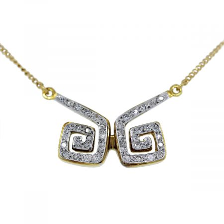 You are viewing this 18K Yellow Gold Diamond Necklace!