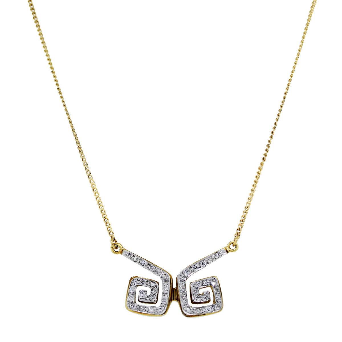 Yellow Gold 18K Diamond Necklace