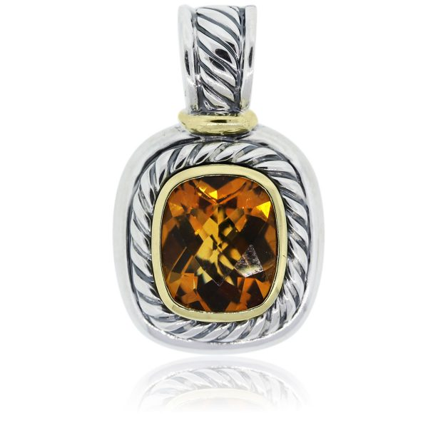 You are viewing this David Yurman Two Tone Citrine Pendant!