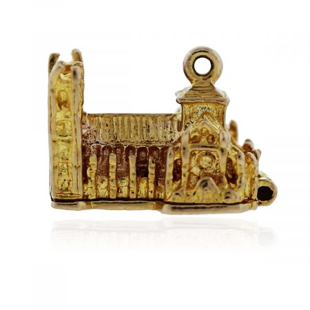 You are viewing this Yellow Gold Western Abbey Pendant!