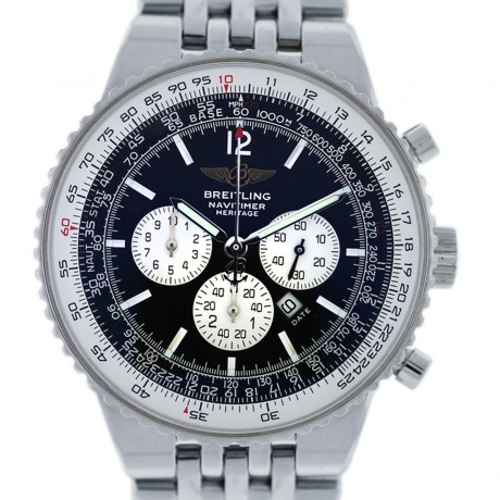 Breitling A35340 Navitimer Stainless Steel Black Dial Mens Watch
