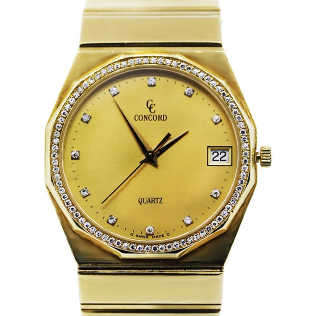 concord mariner 18k gold with bezel boca raton