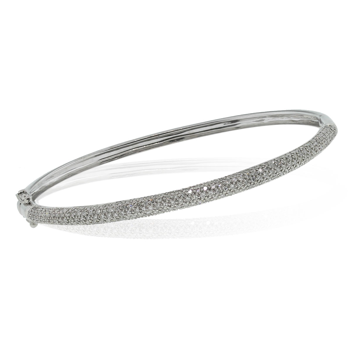 Check out this 14kt White Gold Diamond Bangle Bracelet!