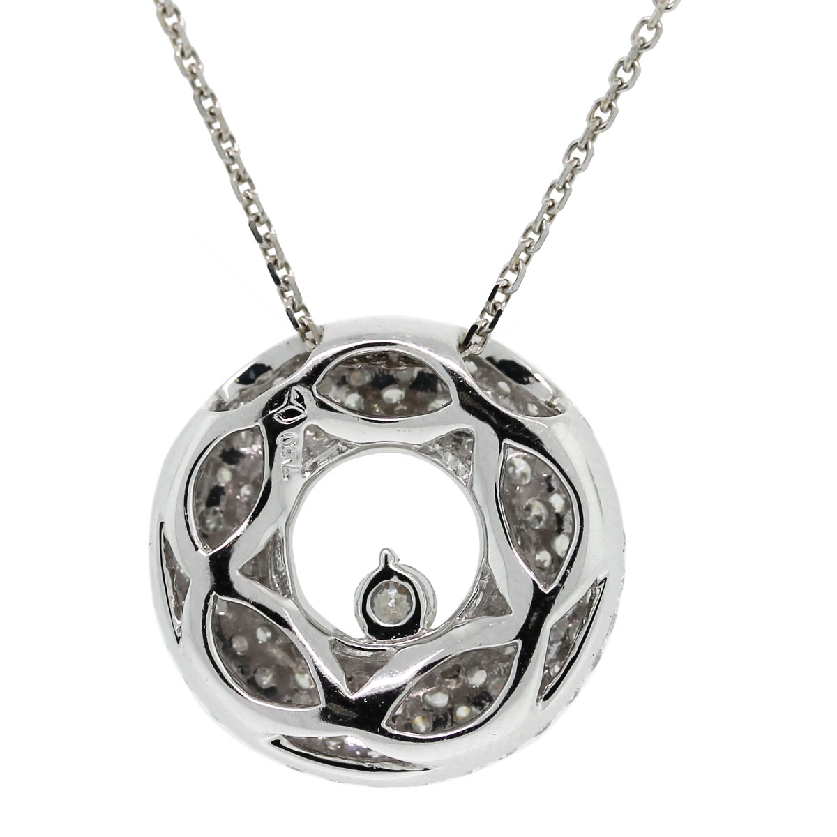 Check out this gorgeous 18kt White Gold Pave Set Diamond Disc Pendant on 14kt White Gold Chain
