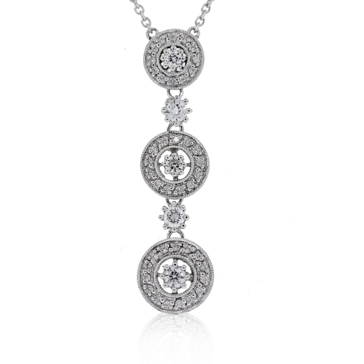 Have you viewed this 14kt White Gold Diamond Drop Pendant on 14k White Gold Chain?