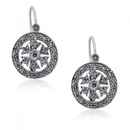 You are viewing these White Gold Diamond Dangle Earrings!