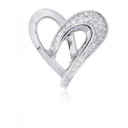 You are viewing this Nina Ricci 18k White Gold and Diamonds Pendant!