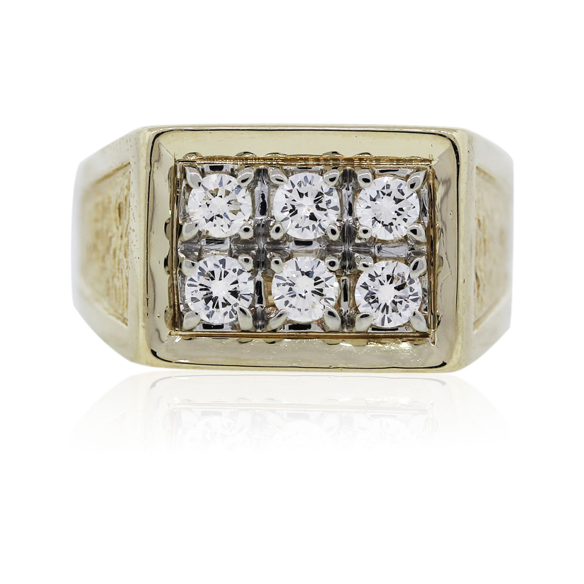 You are viewing this Yellow Gold Diamond Mens Ring!