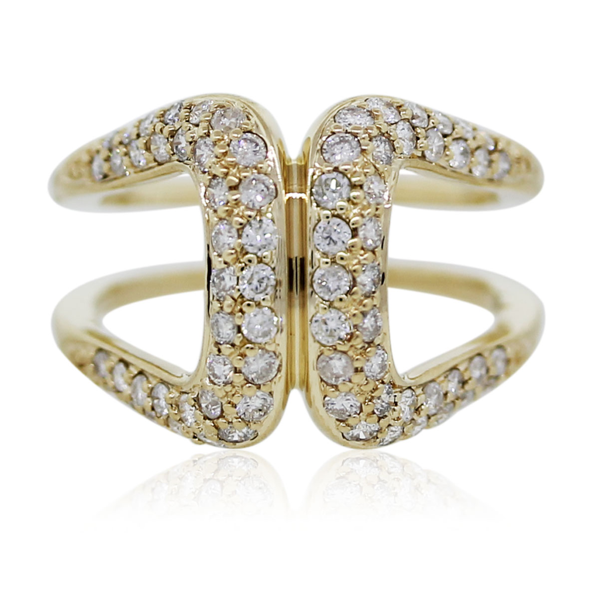 You are Viewing this Gold and Diamond Horseshoe Ring