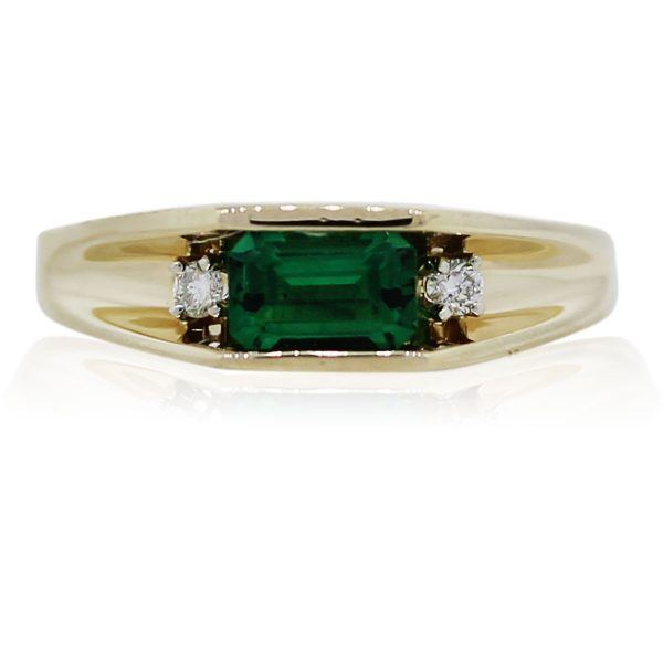 You are Viewing this Emerald and Diamond Ring!