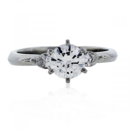You are viewing this Diamond and Platinum Engagement Ring with Pear Shapped Accent Diamonds!