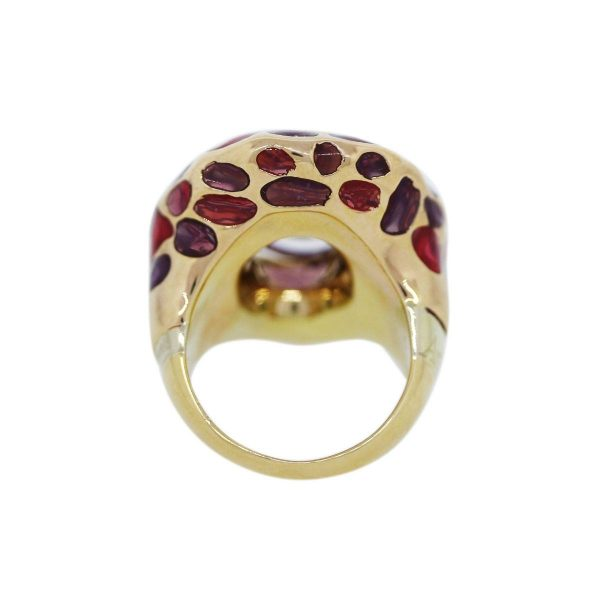 Enamel and Amythest Ring