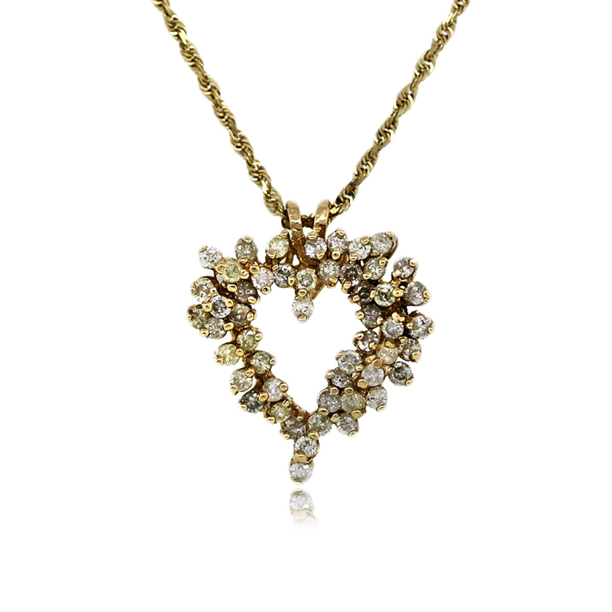You are Viewing this Stunning Diamond Heart Pendant