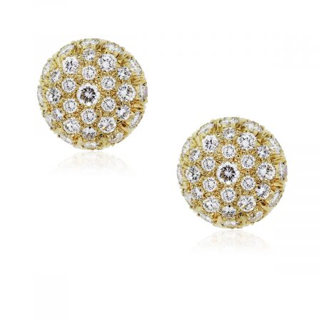 You are viewing these Harry Winston Yellow Gold Diamond Earrings!
