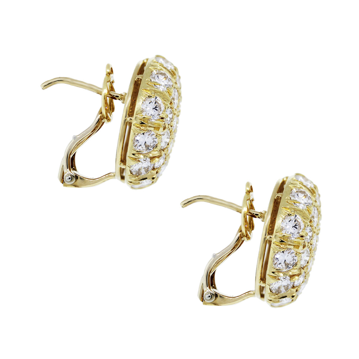 harry winston 18k yellow gold and earrings boca raton