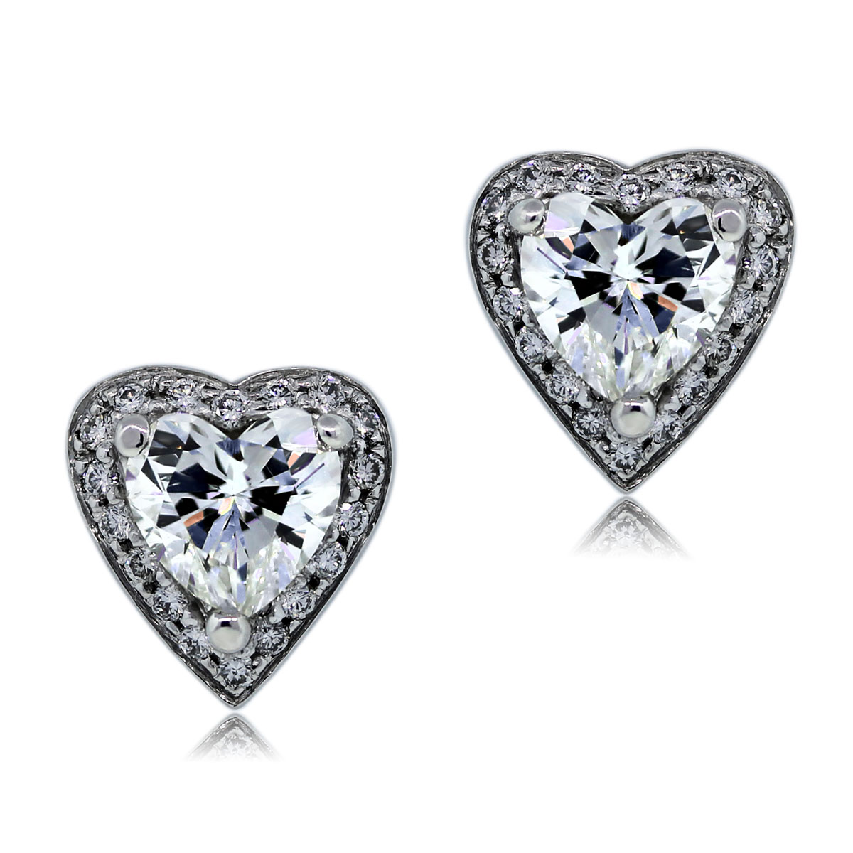 You are Viewing these Heart Shaped Diamond Stud Earrings!