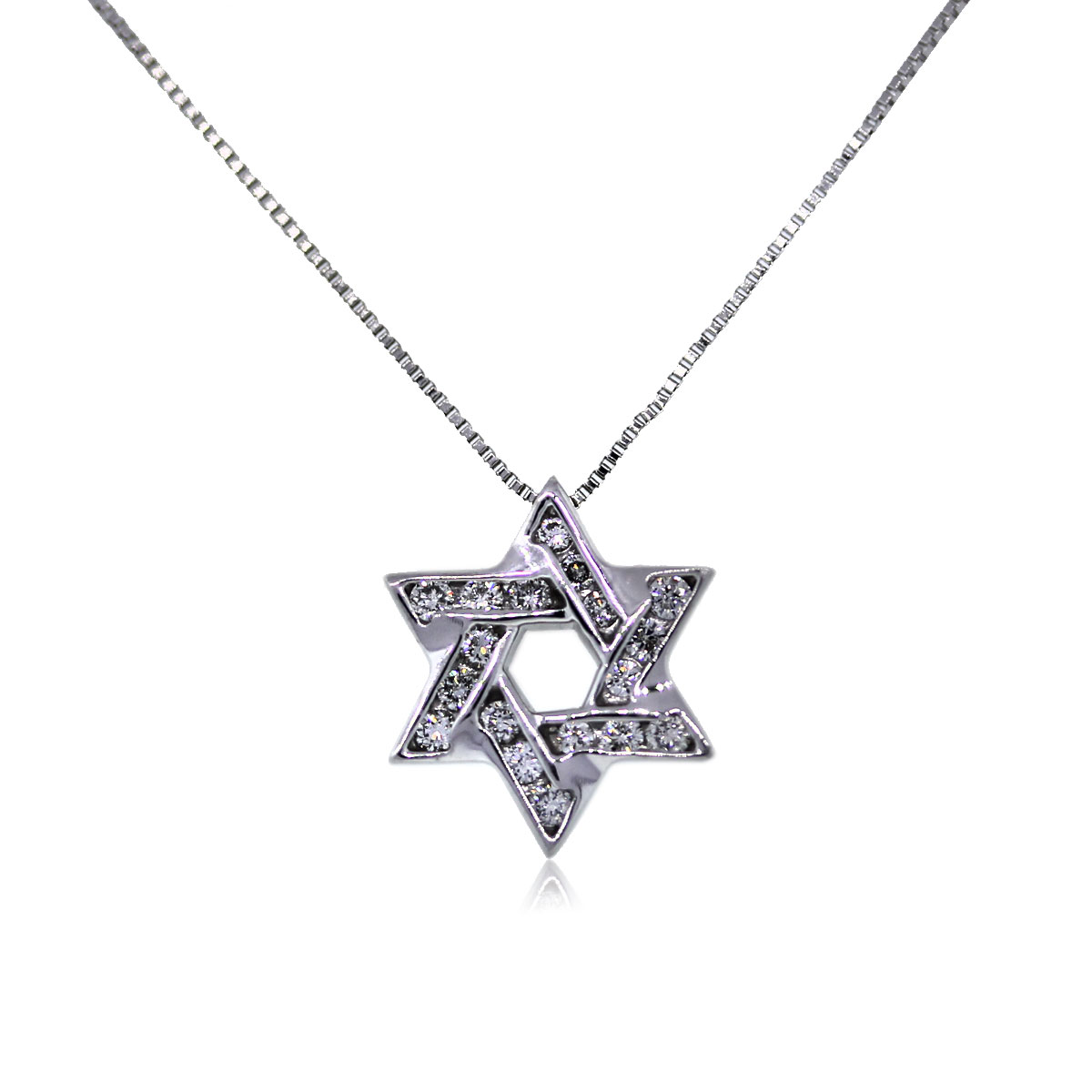 You are Viewing this Stunning Diamond Star of David Necklace