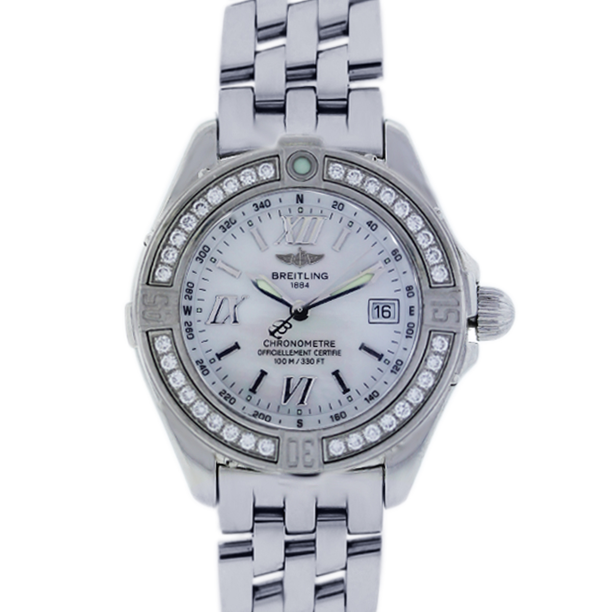 Breitling Ladies Cockpit A71365 Stainless Steel Diamond Watch