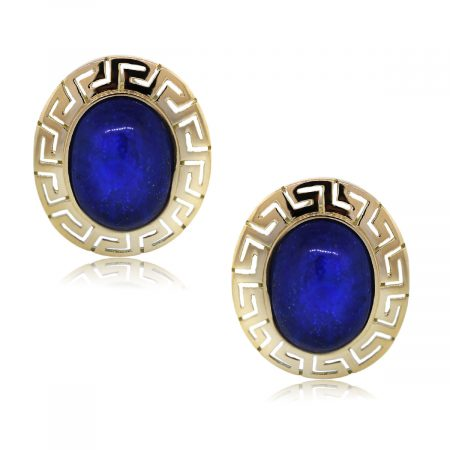 You are Viewing this Ancient Greek Lapis Earrings!