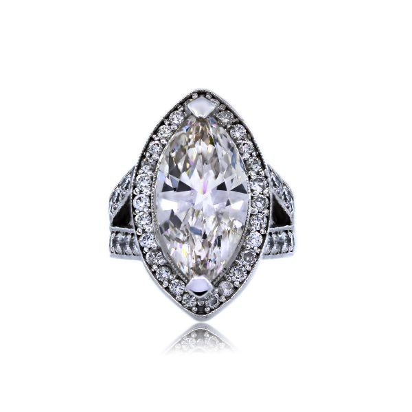 You are Viewing this Gold 7.20ct Marquise Diamond Engagement Ring