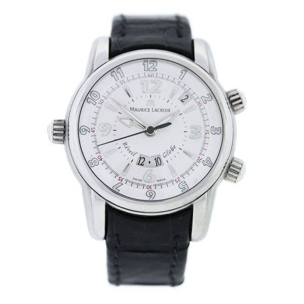 Maurice Lacroix Reveil Globe Stainless Steel Gents Watch