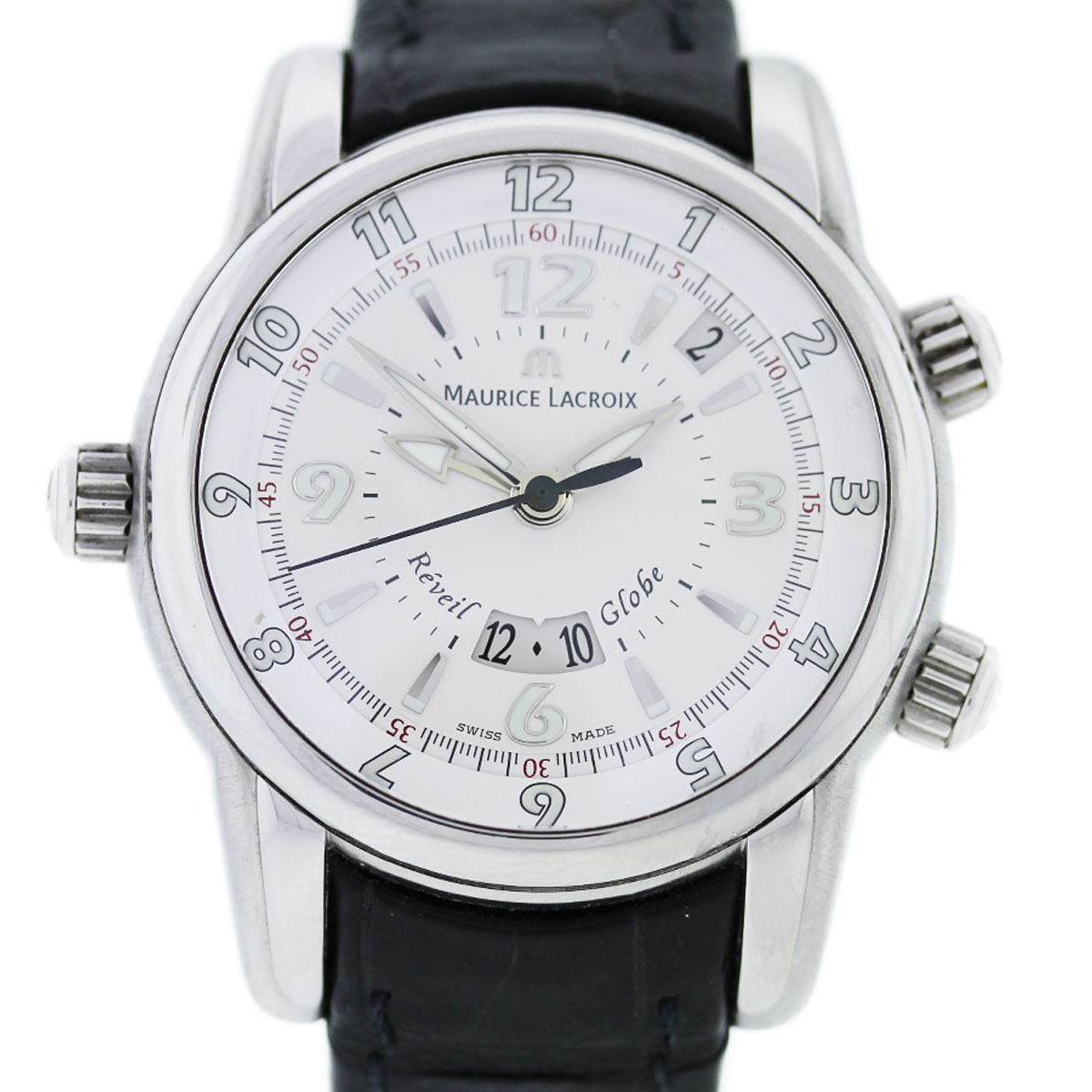 You are viewing this Maurice Lacroix MP6388 Reveil Globe Stainless Steel Gents Watch!