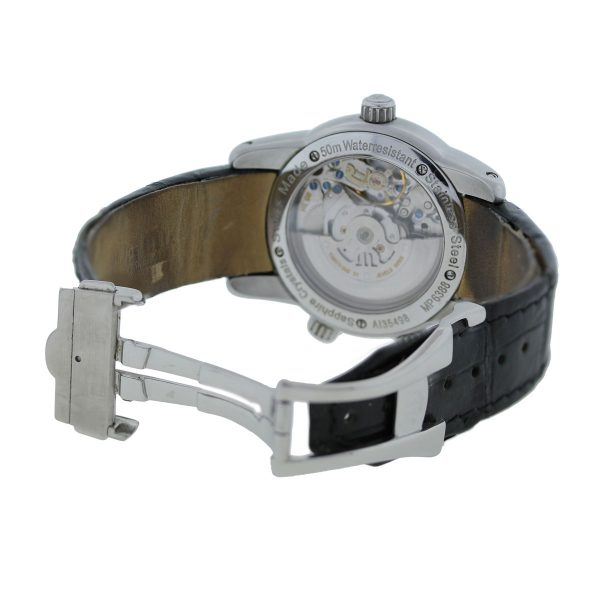 Maurice Lacroix MP6388 Reveil Globe Stainless Steel Watch