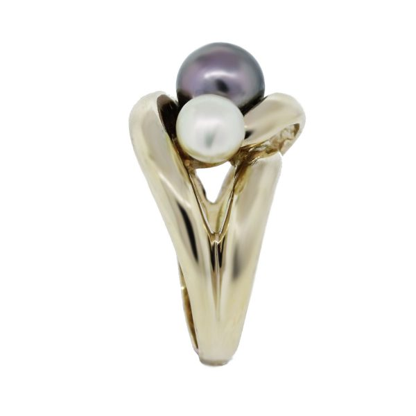Gold Multi Pearl Ring