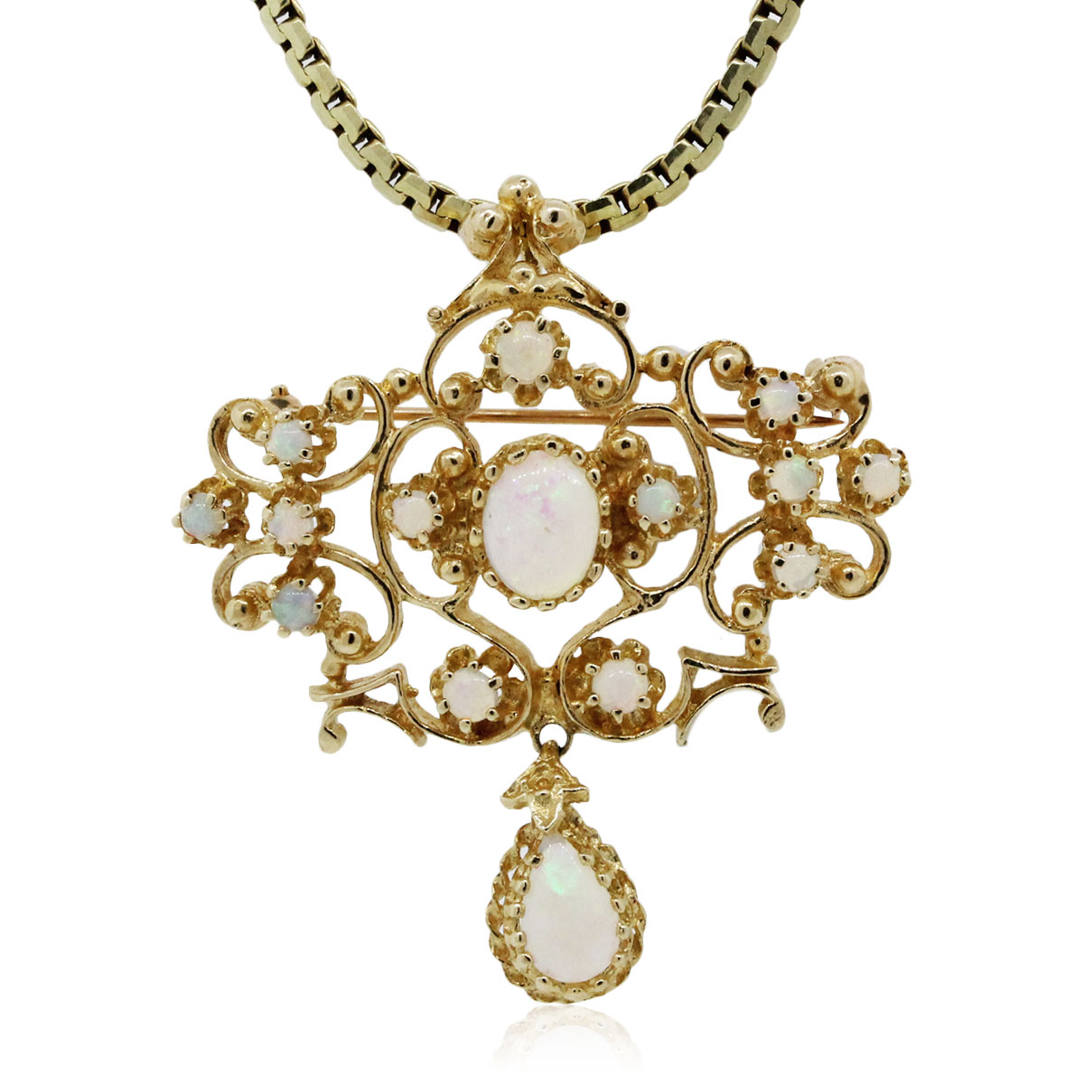 You are viewing this Yellow Gold Opal Pendant Necklace!