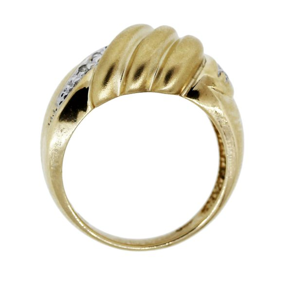 Gold and Diamond Shell Ring