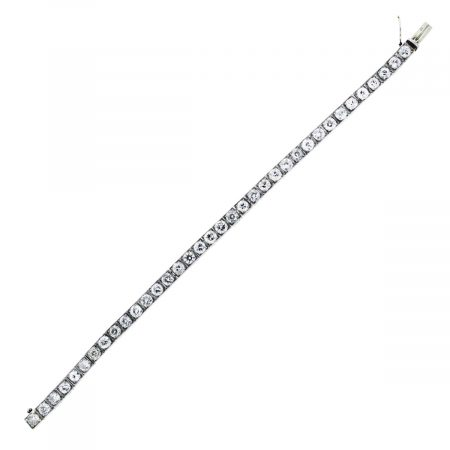 You are viewing this Platinum and Diamond Tennis Bracelet!