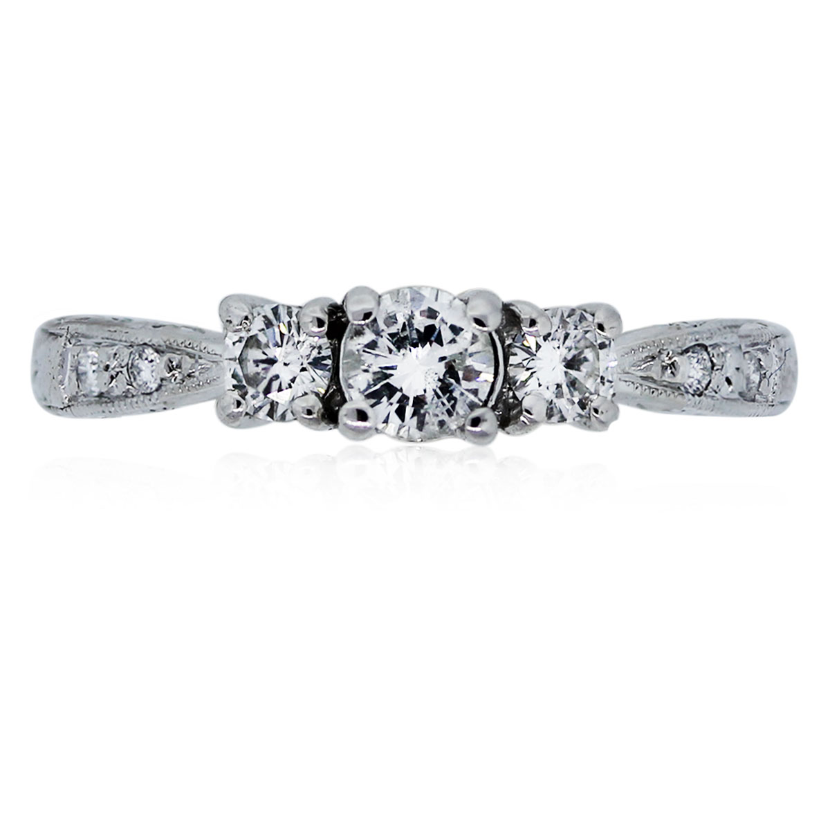 You are viewing this White Gold Diamond Engagement Ring!