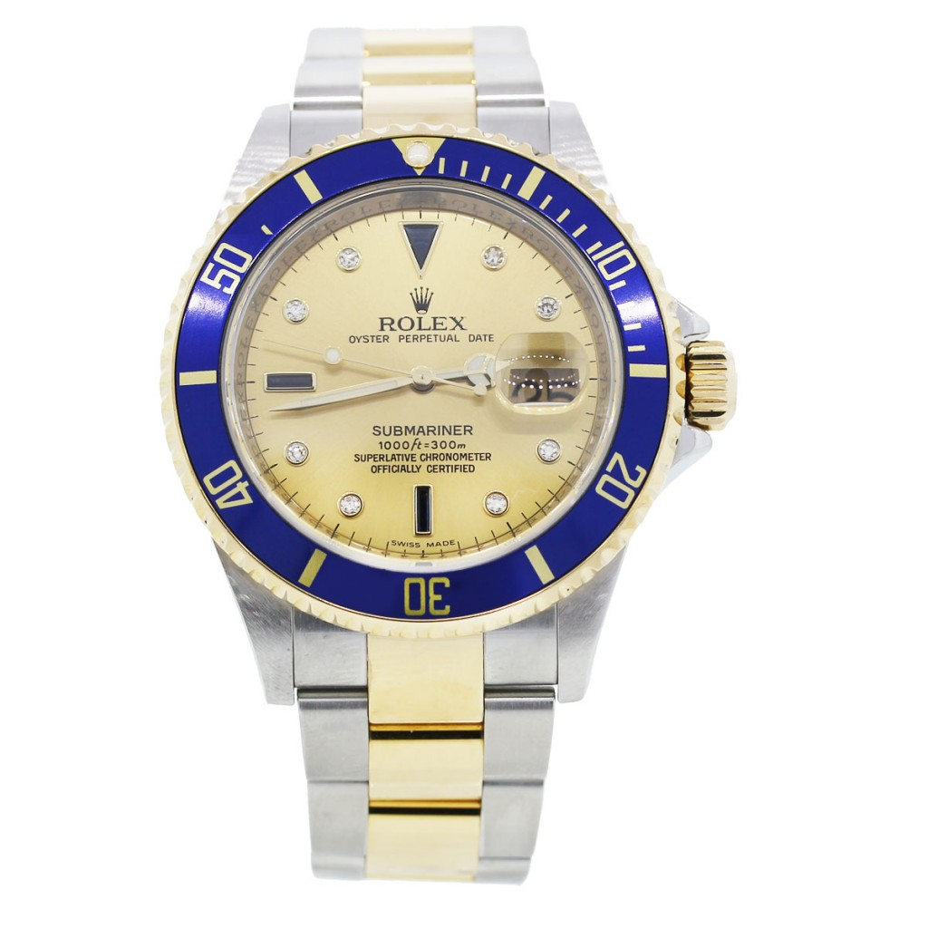 rolex submariner 16613 two tone mens watch. Black Bedroom Furniture Sets. Home Design Ideas