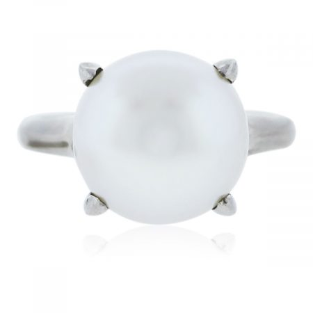 You are viewing this White Gold South Sea Pearl Ring!