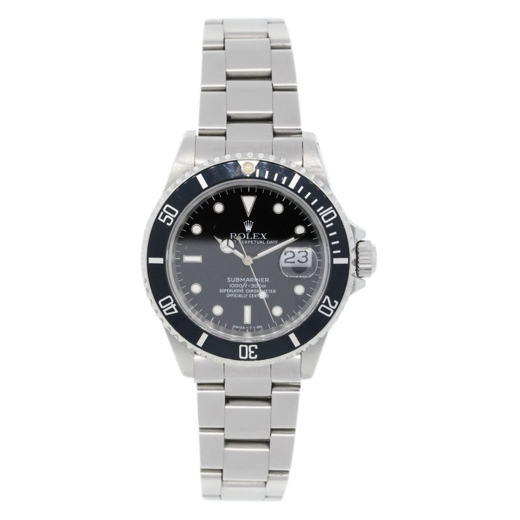 rolex submariner 16610 stainless steel mens boca raton