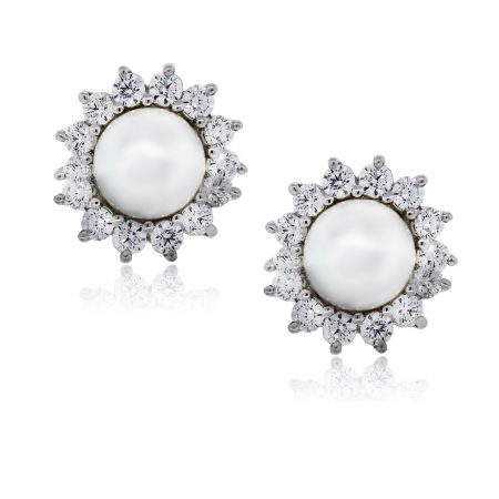 You are viewing these Tiffany & Co. Platinum Diamonds and Pearl Earrings!