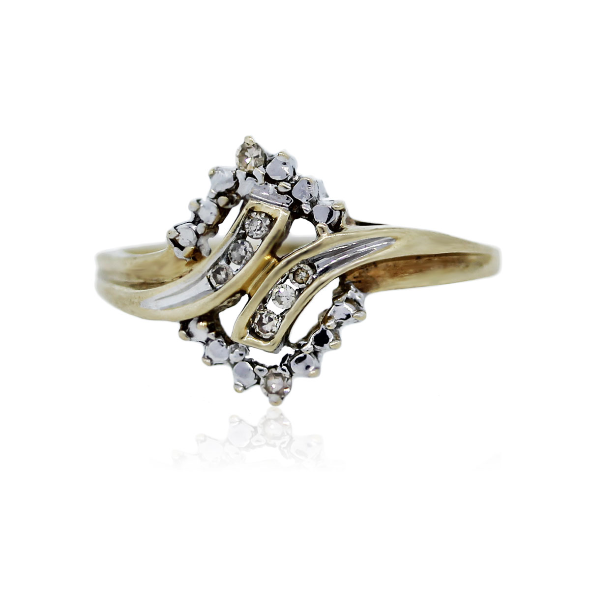 You are viewing this 10K Yellow Gold Single Cut Diamond Ring!