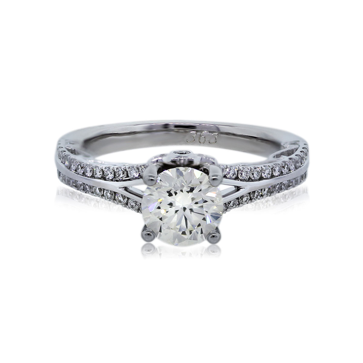 You are Viewing this 1.02ct Diamond Engagement Ring!